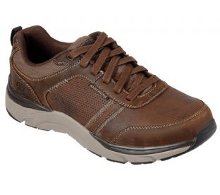 Skechers Mens 66293 CDB Brown Relaxed Fit Sentinal Lunder Leather Shoe